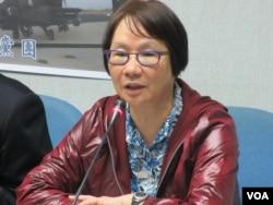 台湾执政党国民党立委罗淑蕾(美国之音张永泰 拍摄 )