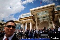 2013年6月蒙古总统庆祝当选连任
