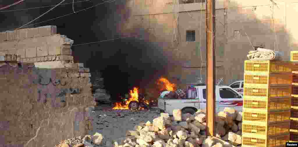 Birnin Ramadi a Iraqi, Mayu 18, 2015.
