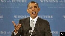 President Barack Obama speaks at Kenmore Middle School in Arlington, Va., March 14, 2011