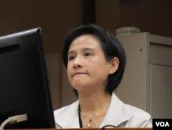 台灣文化部長鄭麗君。(美國之音張永泰拍攝)