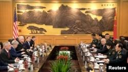 美中防长2018年6月27日在北京举行会谈