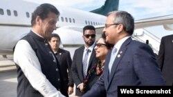 وزیر اعظم کی نیو یارک آمد۔ فوٹو Courtesy Pakistan Embassy