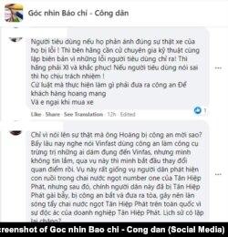 Trên diễn đàn Góc nhìn Báo chí - Công dân, nhiều người e ngại về cách VinFast giải quyết vấn đề với ông Trần Văn Hoàng; 2/5/2021