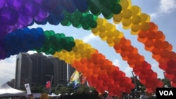 台湾星期六(10月26日)举行同志骄傲大游行。