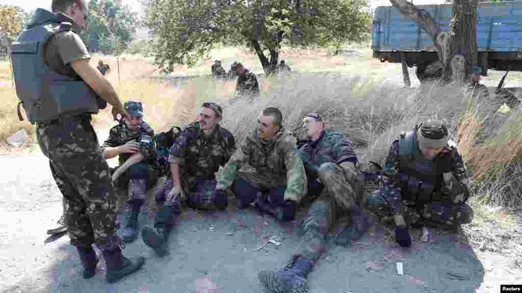 Sojojin Ukraine a Mariupol, Ukraine, 5 ga Satumba, 2014.