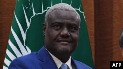 Moussa Faki, le président de la Commission de l'Union africaine (UA) à Beijing, Chine, 8 février 2018.