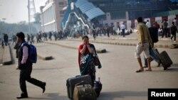 بھارت میں ہڑتال کا ایک منظر