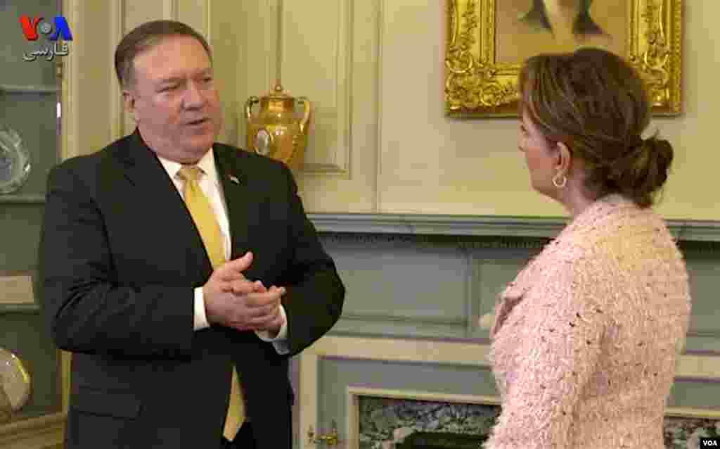 پمپئو: به رهبران جمهوری اسلامی می گوییم مردمتان را غارت نکنید؛ پول مردمتان را به خاطر این ماجراجوییها در سوریه، یمن، لبنان، عراق و غیره هدر ندهید.
