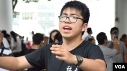 聯校六四哀音隊籌委會成員許峰 (VOA 湯惠芸攝)
