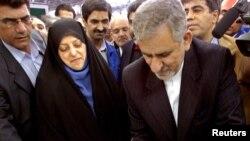 에스하크 자항기리 전 이란 산업부 장관(오른쪽). 부통령으로 내정된 것으로 알려졌다. (자료사진)