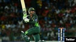 پاکستانی کھلاڑی شعیب ملک جن کے 51 رنز سے 258 کا ہدف حاصل ہوا۔ 21 ستمبر 2018