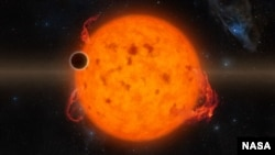 K2-33b, shown in this illustration, is one of the youngest exoplanets detected to date using NASA's Kepler Space Telescope. K2-33b, shown in this illustration, is one of the youngest exoplanets detected to date.