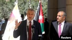 Umuyobozi wa ONU Filippo Grandi ashikiriza ijambo ku musi mukuru wahariwe impunzi muri Amman, Yorodaniya, Itariki 20/06/2019.