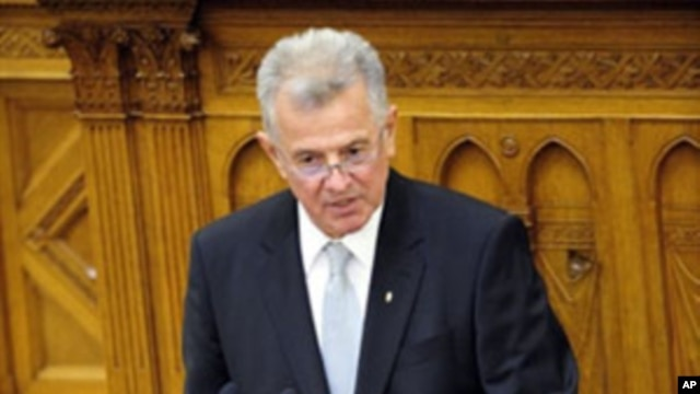 Hungary's President Pal Schmitt (file photo)
