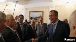 Ngoại trưởng Nga Sergei Lavrov gặp các lãnh đạo đối lập Syria ở Moscow, ngày 11/7/2012