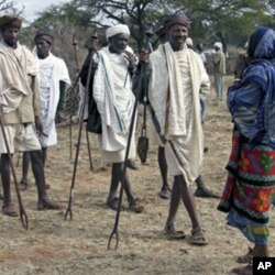 Des membres de la tribu Boranaen Ethiopie lors d'une réunion d'éleveurs à Yabello, à 600 km d'Addis-Abeba
