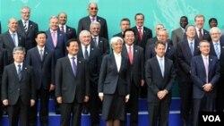 Para menteri keuangan dan gubernur bank sentral dari 20 negara terbesar ekonomi dunia.