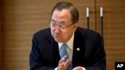 Sekjen PBB Ban Ki-moon mendesak negara-negara Barat menunggu hasil laporan senjata kimia di Suriah (foto: dok).