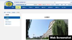 三角輪胎公司總部官方對本公司的介紹(網頁截圖)