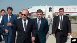 Владимир Путин в аннексированном Крыму, 13 августа 2014 года