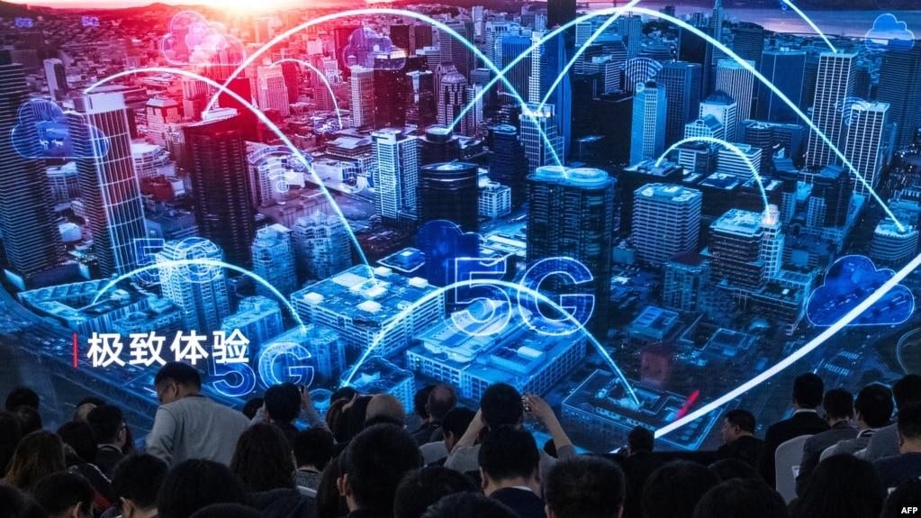 Họp báo tại cuộc trưng bày giới thiệu sản phẩm mới 5G của Huawei tại Bắc Kinh, ngày 24/1/2019.