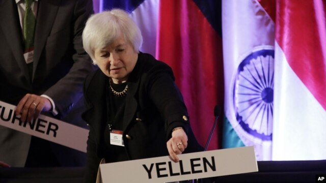 FILE - Janet Yellen, vice chair of the Board of Governors of the Federal Reserve System.