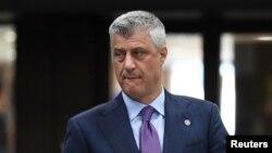 科索沃總統塔奇拒絕接受將科索沃按民族一分為二的想法。