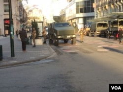 Karam Osmani sent this picture to his family, joking that Brussels looks a bit like Syria these days. (Karam Osami/Courtesy), 23 November 2015