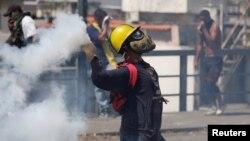 Một cuộc biểu tình tại Venezuela chống chính phủ Maduro.