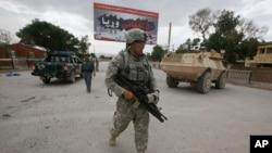 在阿富汗巡邏的美軍資料照片。