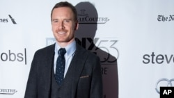 "Michael Fassbender attends the New York Film Festival gala presentation of ""Steve Jobs"" at Alice Tully Hall on Oct. 3, 2015, in New York."