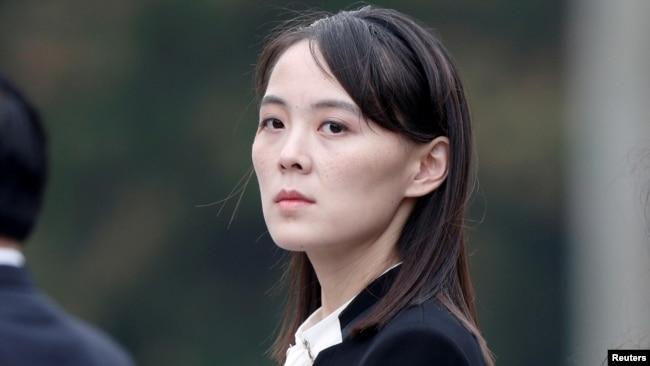 朝鲜领导人金正恩的胞妹金与正(路透社2019年3月2日)