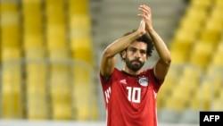 Mohamed Salah à Alexandrie en Egypte le 8 septembre 2018.