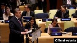 Георгий Квирикашвили на 71-ой сессии Генеральной ассамблеи ООН