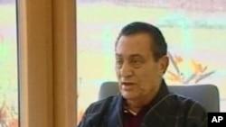 مظاہرین پر فائرنگ کا کبھی حکم نہیں دیا: حسنی مبارک