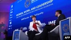 کریستالینا جورجیوا (چپ) - آرشیو