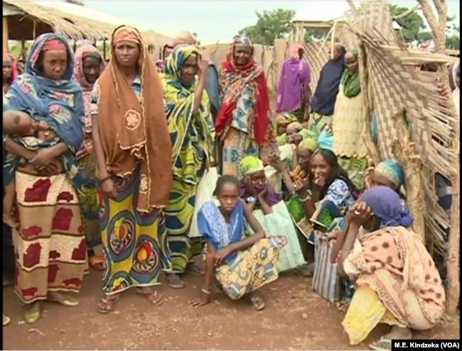 CAR refugee women wait to be registered at Gado Badjere, eastern Cameroon.