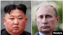 Lideri Severne Koreje i Rusije, Kim Džong Un i Vladimir Putin
