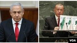 در حالیکه اردوغان در سازمان ملل علیه اسرائیل سخنرانی کرد، نتانیاهو به او واکنش نشان داد.