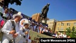 Гей-парад у Вашингтоні стартував від пам'ятника Шевченку. ФОТО