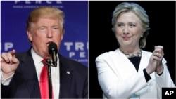 Donald Trump et Hillary Clinton le 6 novembre 2016, en campagne dans un maximum d'État avant le jour de l'élection.