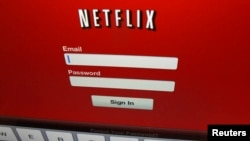 FILE - The Netflix logo on is shown on an iPad in Encinitas, California.