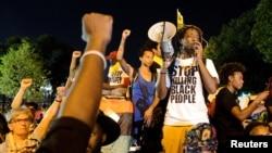 """Pripadnici pokreta """"Životi crnaca su važni"""" (Black Lives Matter) nedavno u Filaldelfiji tokom Demokratske nacionalne konvencije"""