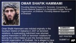 美国联邦调查局发出捉拿奥马尔•哈马米的通缉令。