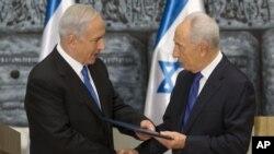 Thủ tướng Israel Benjamin Netanyahu và Tổng thống Israel Simon Peres.
