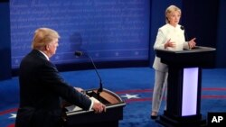 Campaign 2016 Debate Hillary Clinton and Donald Trump