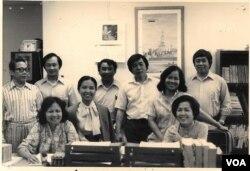 ຄະນະທີມງານຂອງວີໂອເອ ພະແນກພາສາລາວ ປີ 1981