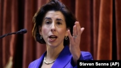 Rhode Island Governor Gina Raimondo delivers her State of the State address to lawmakers and guests in Providence. During her speech she said she wants to provide free tuition at state colleges.