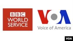Ibimenyetso vya Radiyo Ijwi ry'Amerika na BBC